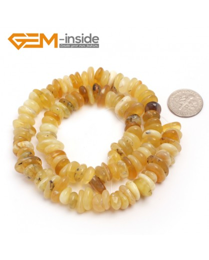 "G6646 Yellow Agate 3-5x10-12mm Freeform Potato Shape Gemstone Loose Beads Strand 15""Free Shipping Natural Stone Beads for Jewelry Making Wholesale`"