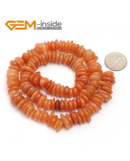 "G6648 Red Jade 3-5x10-12mm Freeform Potato Shape Gemstone Loose Beads Strand 15""Free Shipping Natural Stone Beads for Jewelry Making Wholesale`"