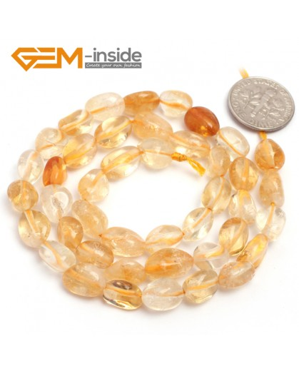 "G6680 6x8mm Citrine Freeform Loose  Beads Strand 15"" Natural Stone Beads for Jewelry Making Wholesale"