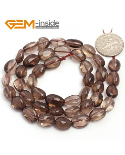"G6681 6x8mm Smoky Quartz Freeform Loose Beads Strand 15"" Natural Stone Beads for Jewelry Making Wholesale"