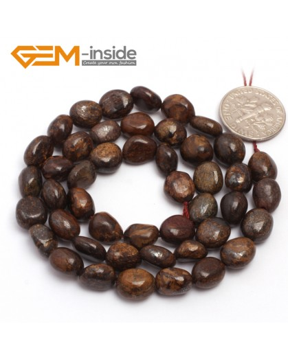 "G6705 6x8mm Bronzite Freeform Gemstone Loose Beads Strand 15"" Natural Stone Beads for Jewelry Making Wholesale"