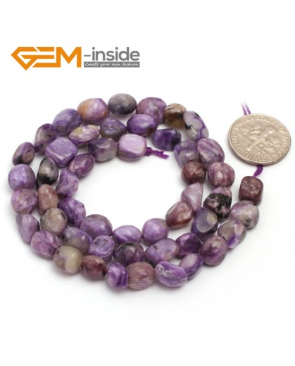 "G6706 6x8mm Purple Jasper Freeform Loose Beads Strand 15"" Stone Beads for Jewelry Making Wholesale"