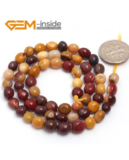 "G6708 6x8mm  Mookiate Jasper Freeform Loose Beads Strand 15"" Natural Stone Beads for Jewelry Making Wholesale"
