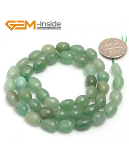 "G6709 6x8mm Green Aventune Jade Freeform Gemstone Loose Beads Strand 15"" Natural Stone Beads for Jewelry Making Wholesale"