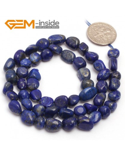"G6713 6x8mm Blue Lapis Lazuli  Freeform Loose Beads Strand 15"" Stone Beads for Jewelry Making Wholesale"