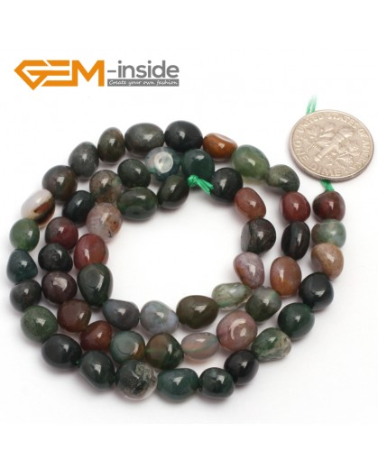 "G6716 6x8mm Indian Agate Freeform Loose Beads Strand 15"" Natural Stone Beads for Jewelry Making Wholesale"