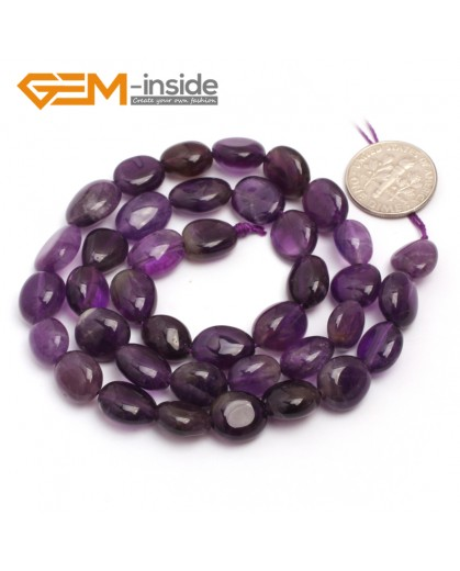 "G6727 Amethyst 9x12mm Natural Freeform Potato Shape Jewelry Making Gemstone Loose Beads15"" Natural Stone Beads for Jewelry Making Wholesale"