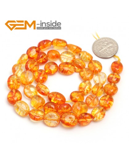 "G6732 Dyed Yellow Quartz 9x12mm Natural Freeform Potato Shape Jewelry Making Gemstone Loose Beads15"" Natural Stone Beads for Jewelry Making Wholesale"