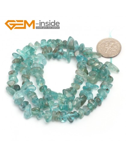 "G6768 Blue Apatite Freeform Chips Beads Strands 15"" 4-6x7-10mm Jewelry Making 45 Natural Materials Natural Stone Beads for Jewelry Making Wholesale`"