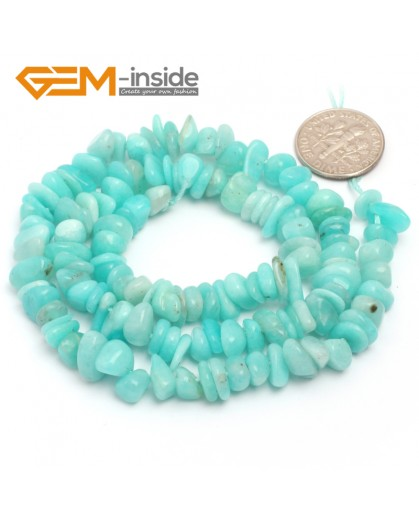 "G6785 Peru Amazonite Freeform Chips Beads Strands 15"" 4-6x7-10mm Jewelry Making 45 Natural Materials Natural Stone Beads for Jewelry Making Wholesale`"