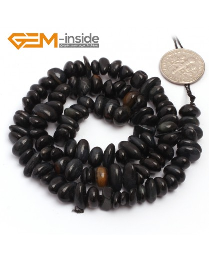 """G6789 Blue Tiger Eye Freeform Chips Beads Strands 15"""" 4-6x7-10mm Jewelry Making 45 Natural Materials Natural Stone Beads for Jewelry Making Wholesale`"""