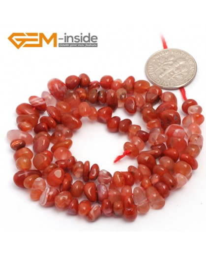 "G6792 Red Banded Agate Freeform Chips Beads Strands 15"" 4-6x7-10mm Jewelry Making 45 Natural Materials Natural Stone Beads for Jewelry Making Wholesale`"