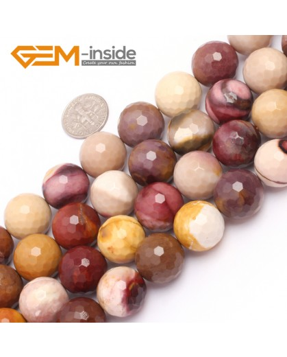 "G6935 16mm Natural Round Faceted Mookaite Jasper Beads Gemstone Stone Beads Strand 15"" Natural Stone Beads for Jewelry Making Wholesale"