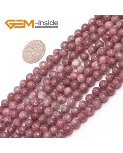 "G6954 6mm Round Pink Natural Chinese Tourmaline Gemstone Loose Beads 15""  Natural Stone Beads for Jewelry Making Wholesale"