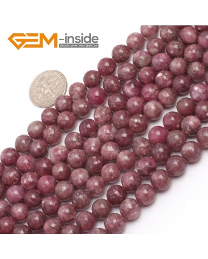 "G6955 8mm Round Pink Natural Chinese Tourmaline Gemstone Loose Beads 15"" Natural Stone Beads for Jewelry Making Wholesale"