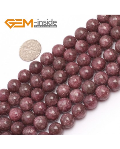 "G6956 10mm Round Pink Natural Chinese Tourmaline Gemstone Loose Beads 15"" Natural Stone Beads for Jewelry Making Wholesale"