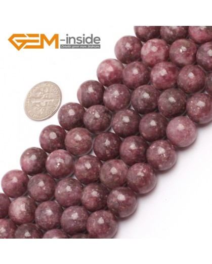 "G6957 12mm Round Pink Natural Chinese Tourmaline Gemstone Loose Beads 15"" Natural Stone Beads for Jewelry Making Wholesale"