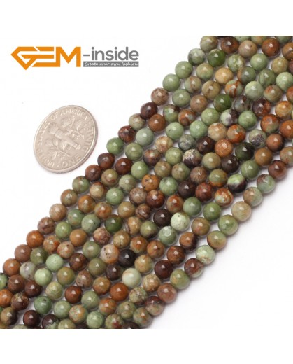 "G6958 4mm Round Natural Green Opal Gemstone Beads Strand 15"" Natural Stone Beads for Jewelry Making Wholesale"