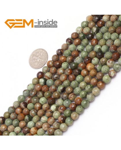 "G6964 6mm New Round faceted opal jewelry making beads strand 15"" Natural Stone Beads for Jewelry Making Wholesale"