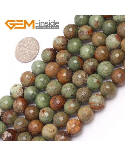 "G6966 10mm New Round faceted opal jewelry making beads strand 15"" Natural Stone Beads for Jewelry Making Wholesale"
