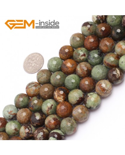"G6967 12mm New Round faceted opal jewelry making beads strand 15"" Natural Stone Beads for Jewelry Making Wholesale"