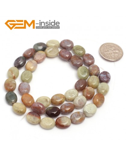 "G7076 Indian Agate 8x10mm Natural Gemstone DIY Jewelry Crafts Making Stone Loose Beads Strand 15""Natural Stone Beads for Jewelry Making Wholesale`"