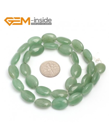"G7095 Green Aventurine Jade 10x14mm  Natural Gemstone DIY Jewelry Crafts Making Stone Loose Beads Strand 15"" Natural Stone Beads for Jewelry Making Wholesale"