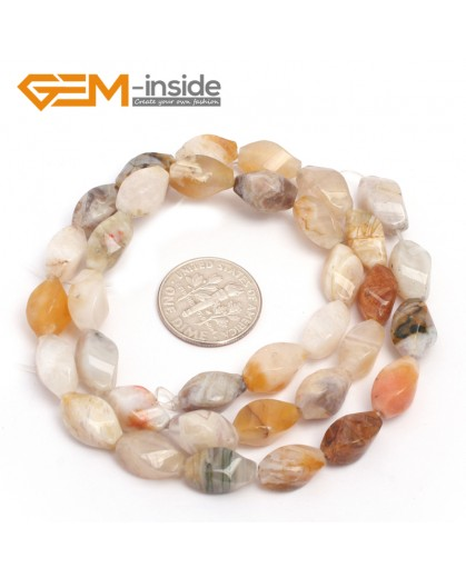 """G7107 Crazy Lace Agate 6X12mm Twist Mixed Gemstone Loose Beads DIY Jewelry Making  Beads Strand 15"""" Natural Stone Beads for Jewelry Making Wholesale"""