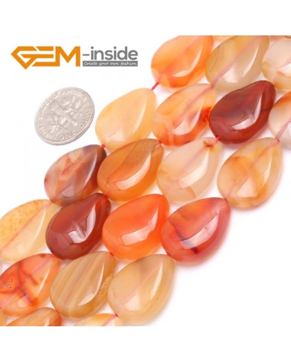 """G7176 Carnelian 15x20mm Drip Wave Shape Gemstone DIY Jewelry Crafts Making Loose Beads 15"""" Natural Stone Beads for Jewelry Making Wholesale`"""