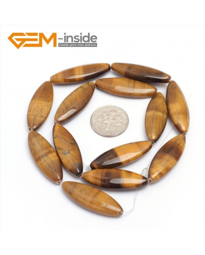 """G7274 10x30mm Marquise  Natural Yellow Tiger's Eye Beads Jewelry Making Gemstone Loose Beads15"""" Gbeads Natural Stone Beads for Jewelry Making Wholesale`"""