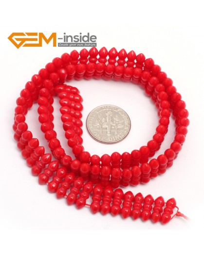 """G7429 Red 4x11mm Gemstone Coral DIY Jewelry Making Necklace Bracelet Loose Beads Strand15"""" Natural Stone Beads for Jewelry Making Wholesale`"""