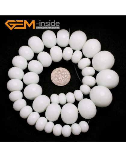 "G7505 12-20mm Rondelle Graduated Gemstone  DIY Jewelry Making Stone Loose Beads 15"" Natural Stone Beads for Jewelry Making Wholesale"