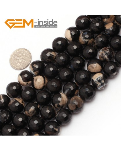 "G7519  12mm Round Faceted Gemstone Frost Agate DIY Jewelry Making Beads Strand 15""Natural Stone Beads for Jewelry Making Wholesale"