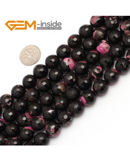 "G7520  12mm Round Faceted Gemstone Frost Agate DIY Jewelry Making Beads Strand 15""Natural Stone Beads for Jewelry Making Wholesale"