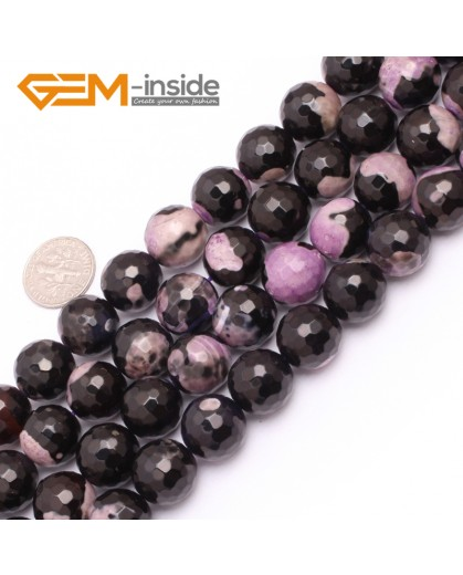 "G7522  14mm Round Faceted Gemstone Frost Agate DIY Jewelry Making Beads Strand 15""Natural Stone Beads for Jewelry Making Wholesale"
