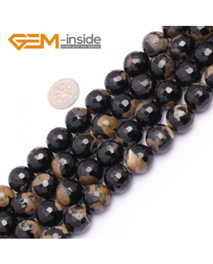 "G7523 14mm Round Faceted Gemstone Frost Agate DIY Jewelry Making Beads Strand 15""Natural Stone Beads for Jewelry Making Wholesale"