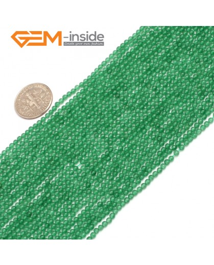 "G7893 2mm Green Agate Stone Round Gemstone Tiny Jewelry Making Loose Spacer Beads Strand 15"" Natural Stone Beads for Jewelry Making Wholesale"