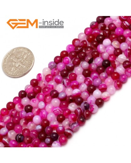 "G7894 4mm Pink Sardonyx Agate Round Gemstone Tiny Jewelry Making Loose Spacer Beads Strand 15"" Natural Stone Beads for Jewelry Making Wholesale"