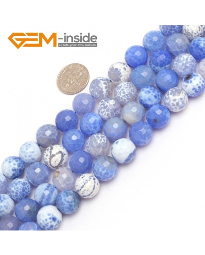 "G7899  12mm Round Faceted Gemstone Frost Agate DIY Jewelry Making Beads Strand 15""Natural Stone Beads for Jewelry Making Wholesale"