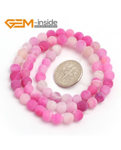 "G7915 6mm Round Frost Gemstone Plum Agate Jewelry Making Stone Beads Strand 15"" Natural Stone Beads for Jewelry Making Wholesale"