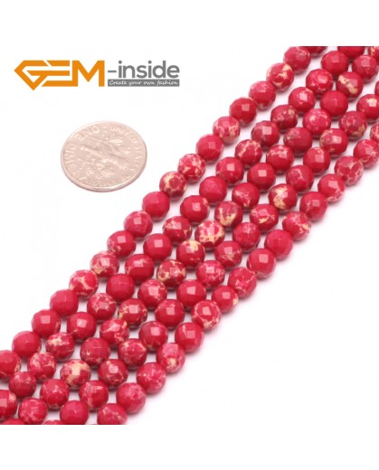 """G8010 6mm Round Faceted Gemstone Dark Red Crazy Lace Agate DIY Jewelry  Making Beads 15"""" Natural Stone Beads for Jewelry Making Wholesale"""