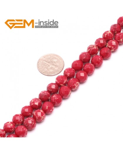 "G8011 8mm Round Faceted Gemstone Dark Red Crazy Lace Agate DIY Jewelry  Making Beads 15"" Natural Stone Beads for Jewelry Making Wholesale"
