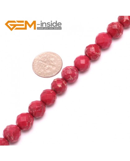 """G8012 10mm Round Faceted Gemstone Dark Red Crazy Lace Agate DIY Jewelry  Making Beads 15"""" Natural Stone Beads for Jewelry Making Wholesale"""