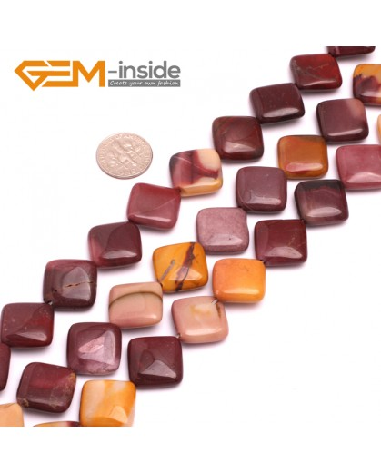 "G8023 16mm Square Wave Natural Mookaite Gemstone 15""  Natural Stone Beads for Jewelry Making Wholesale"