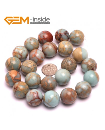 "G8085 18mm Round Gemstone Shoushan Stone DIY Jewelry Crafts Making Loose Beads Strand 15"" Natural Stone Beads for Jewelry Making Wholesale"