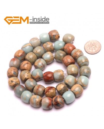 """G8094 10x12mm Rondelle Gemstone Shoushan Stone DIY Crafts Making Loose Stone Beads Strand 15"""" Natural Stone Beads for Jewelry Making Wholesale"""