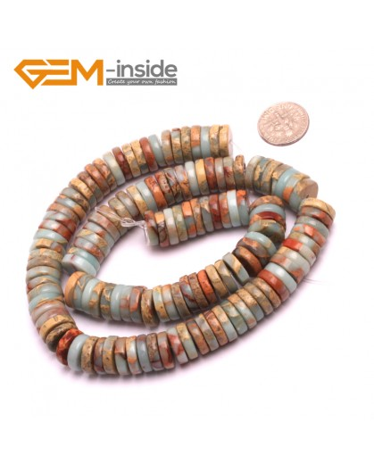 "G8099 3x12mm Rondelle Gemstone Shoushan Stone DIY Crafts Making Loose Stone Beads Strand 15"" Natural Stone Beads for Jewelry Making Wholesale"