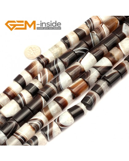 "G9297 12x16mm Column Botswana Agate Beads Jewelry Making Loose Beads Strand 15"" Free Shipping Natural Stone Beads for Jewelry Making Wholesale"