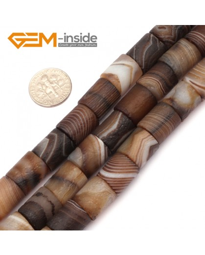 """G9301 10x14mm Frost Column Botswana Agate Beads 15"""" Jewelry Making Loose Beads Free Shipping Natural Stone Beads for Jewelry Making Wholesale"""