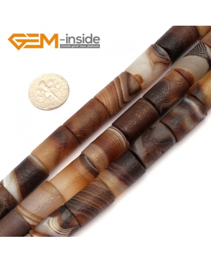 "G9302 12x16mm Frost Column Botswana Agate Beads 15"" Jewelry Making Loose Beads Free Shipping Natural Stone Beads for Jewelry Making Wholesale"